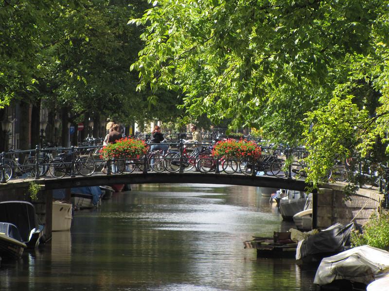 29-Bikes, bridge, and flowers