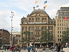 """15-Department store """"De Bijenkorf"""" (means """"The Hive"""") at Dam Square. Monument is to the right (out of photo)."""