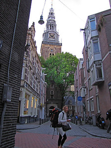 02-Old Church: first glimpse of the Oude Kerk