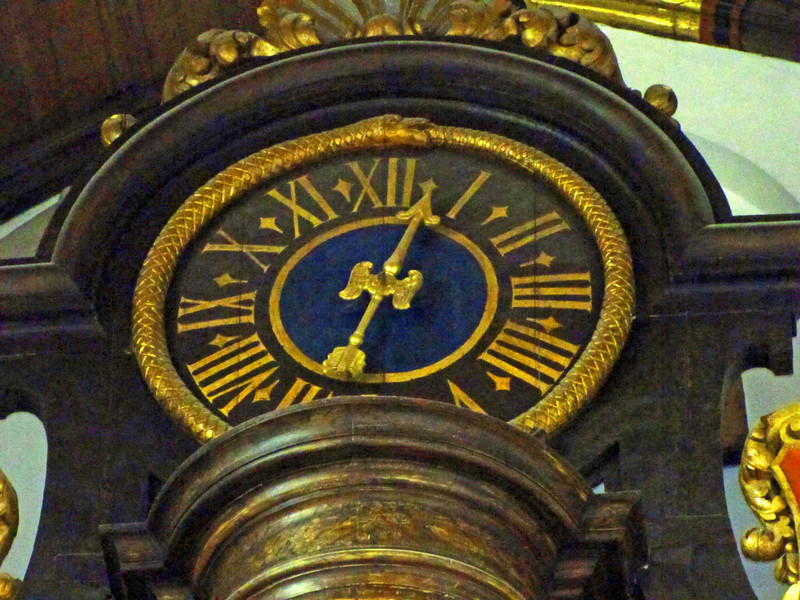 13-Clock at top of Great organ
