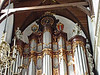 12-Clock and shields at top of Great Organ. Three X's at right = Amsterdam Coat of Arms