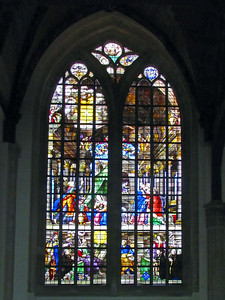 17-Stained glass window, the Lady Chapel (Maria Kapel)