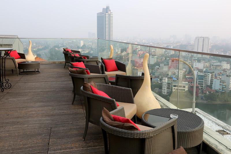 Roof top at the Sofitel Hotel - Vietnam.