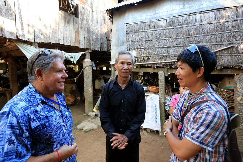 This picture is priceless. Program Manager Mr. Long (right) introduces former United States Army soldier (left)  and Vietnamese soldier (middle) and are now friends.