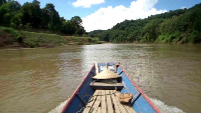 As we take the boat ride back to our hotel, this zip lining trip only cost us $45 per person for the day. The $45 includes the transportation from our hotel, boat ride and zip lining in Laos.