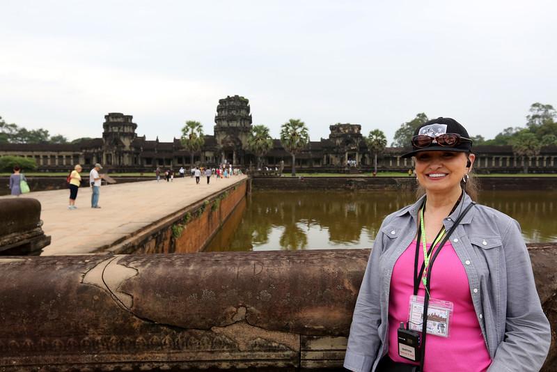Julie at Ankor Wat .