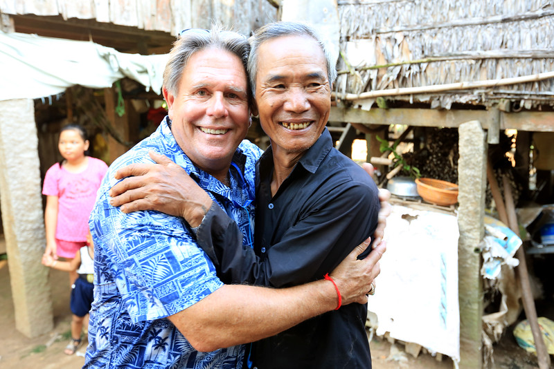 This picture is priceless. Former United States Army soldier meets Vietnamese soldier and are now friends after all these years.