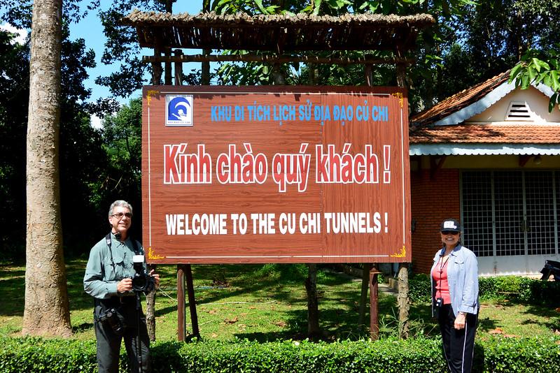 The Cu Chi Tunnels in Vietnam.