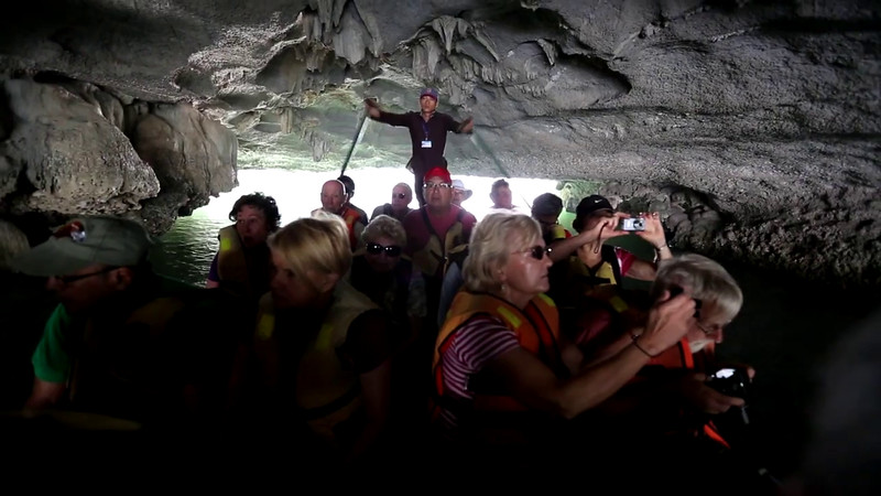 Rona Commins sings Ave Maria in HaLong Bay, Vietnam.