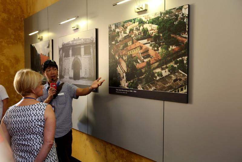 Program Manager Mr. Long explains about  the Hoa Lo prison.