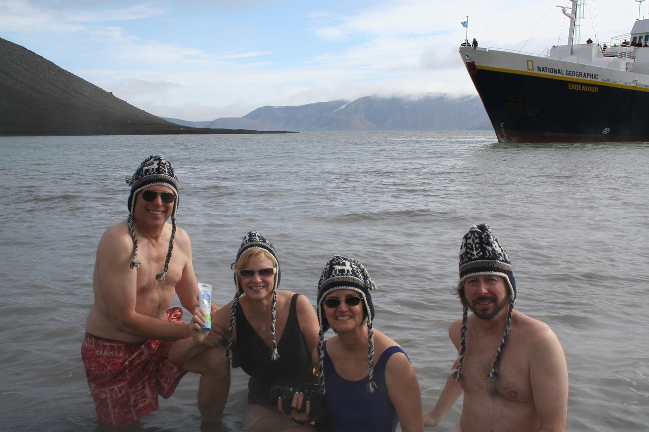 Crazy nuts swimming in Antarctica