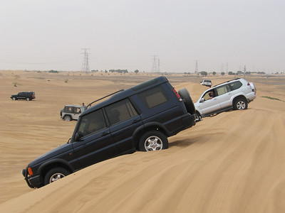 Practicing backing up the dunes, not sure how often I'll need to know how to do that though.