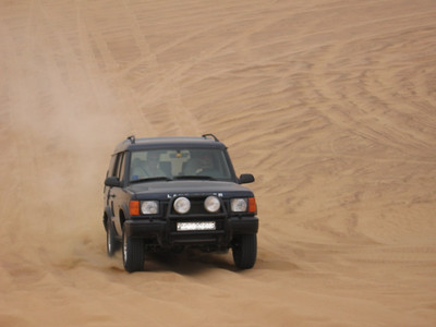 Heading up another dune.