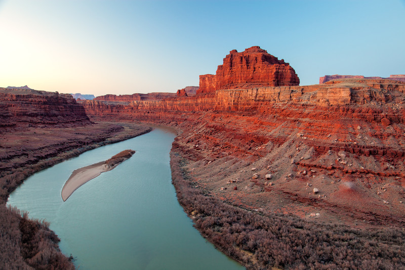 EARLY DAWN LIGHT ON THE COLORADO RIVER
