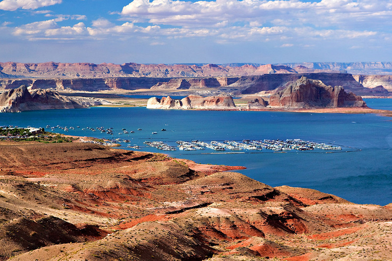 LAKE POWELL AS SEEN FROM THE WAHWEAP MARINA OVERLOOK