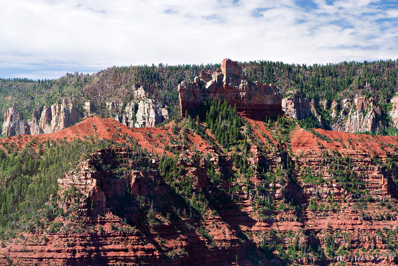 BATTLESHIP FORMATION AT THE NORTH RIM