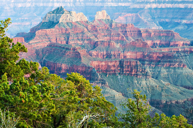 """SUNSET AT THE NORTH RIM ON A VERY """"BLUSTERY"""" DAY"""
