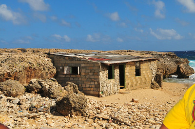 abandoned shack east shore of Aruba