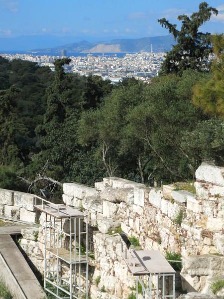 Looking south to Piraeus
