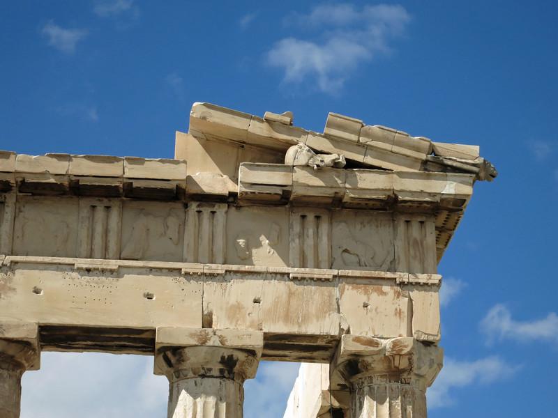 Ne Pediment. Horse heads are replicas. Originals in Acropolis Museum.