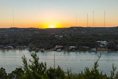 Sunset on Mount Bonnell