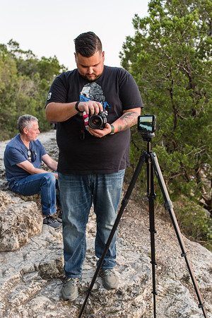 Capturing the sunset on Mount Bonnell
