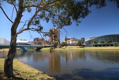 Torrens River, Adelaide, South Australia, Australië.