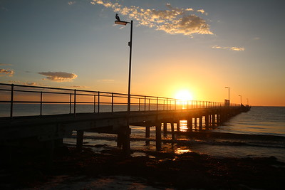 Sunrise @ Arno Bay Jetty. Arno Bay, Eyre Peninsula, South Australia, Australië.