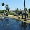 A recreation of the tar pits