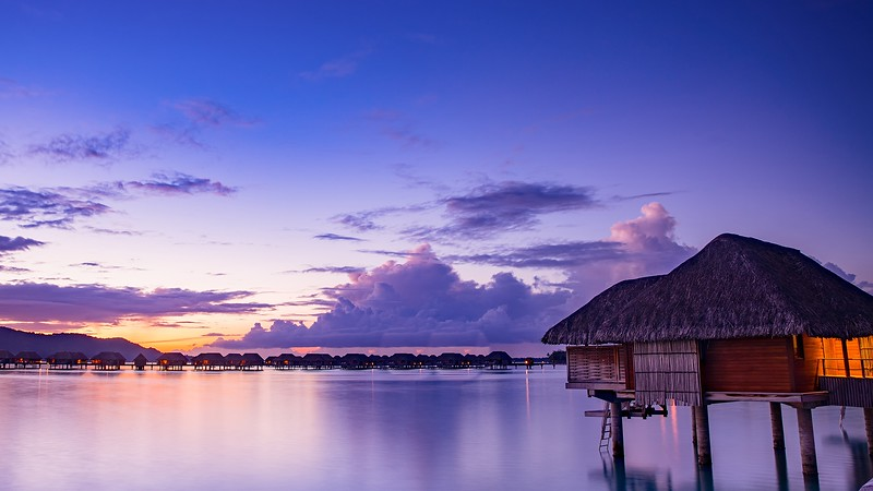 Top Destinations with beautiful Sunsets Bora Tahiti