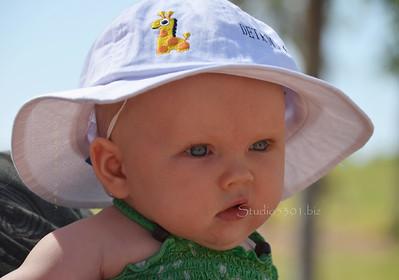 Baby white hat zoo 0512 7782