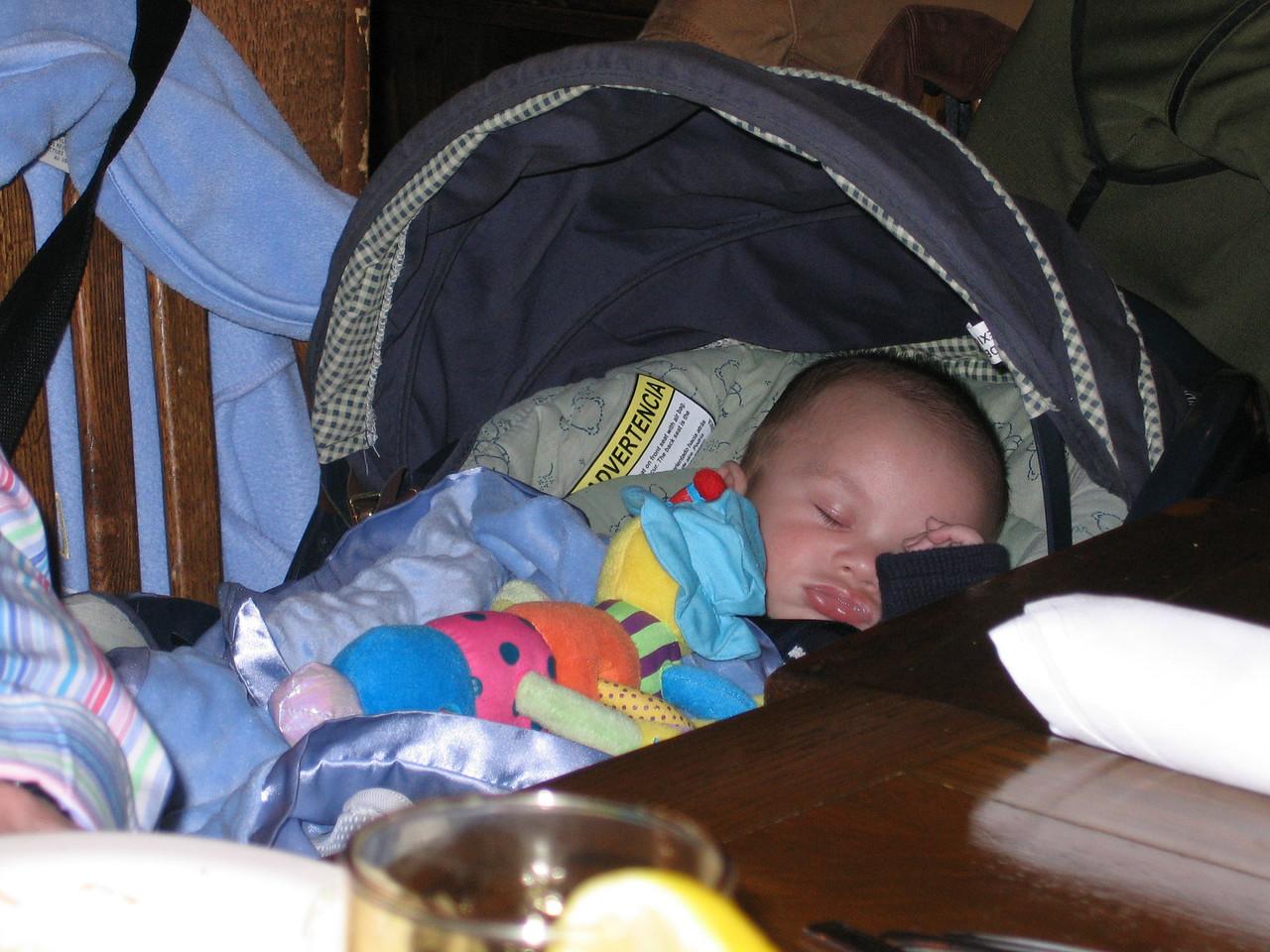 Matthew taking a snooze