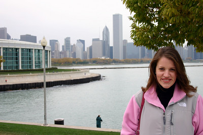 Rachael and city background