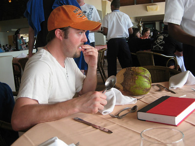 Scott and his sweaty tasting coconut
