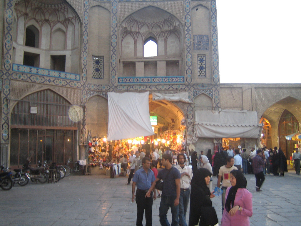 The entrance to the Bazaar in Naghsh-e Jahan.