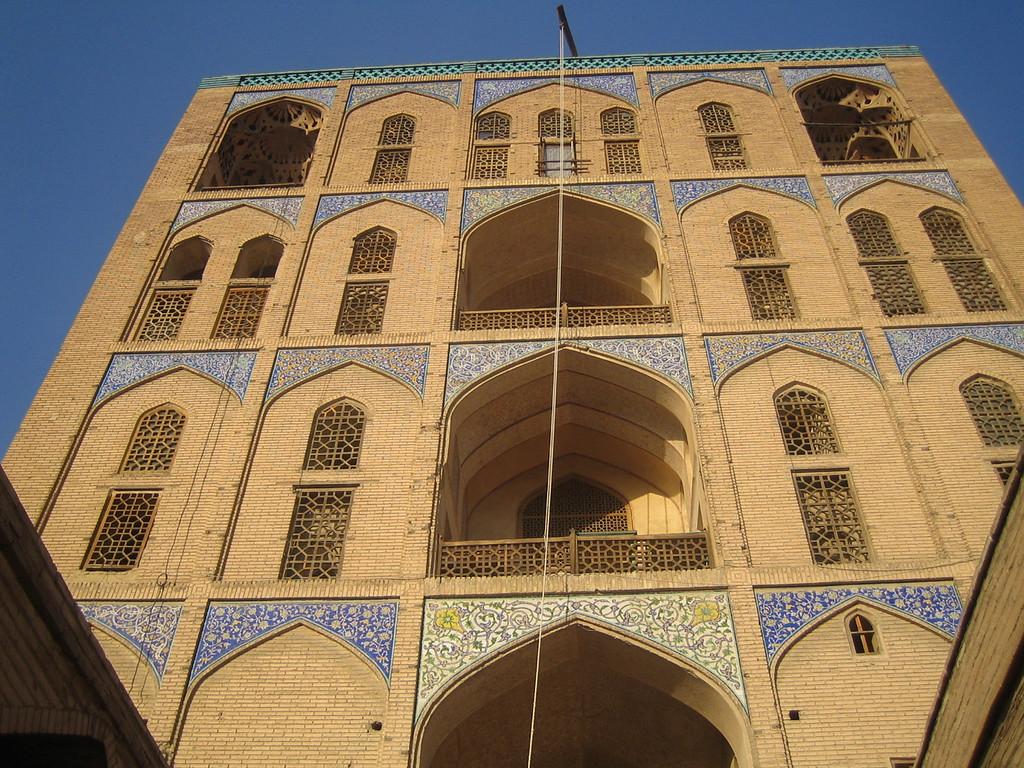 The rear of Ali Qapu Palace.