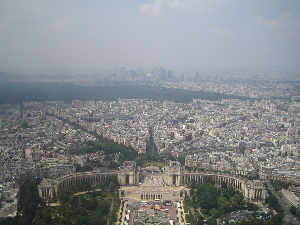 Downtown Paris from the Eiffel Tower.