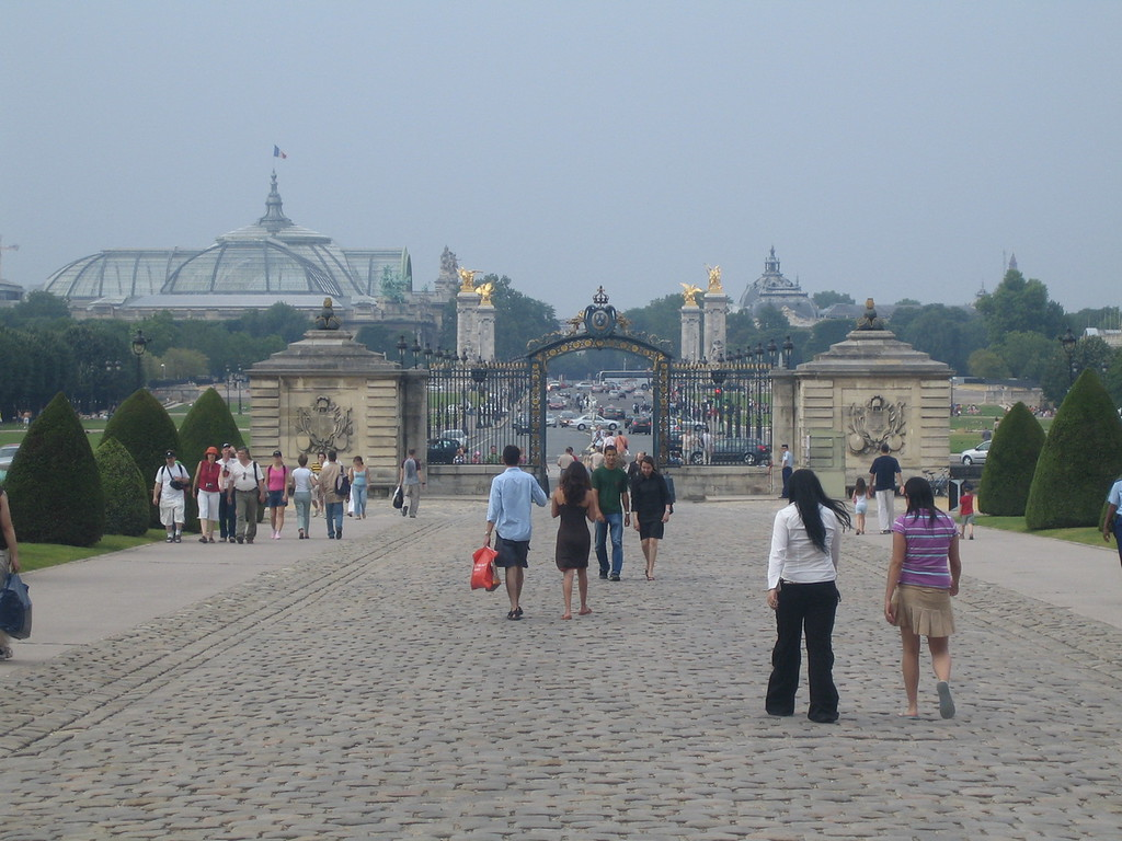 The Grand Palais in the background.