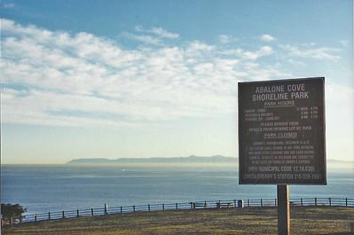 11/16/02 Parking area. Abalone Cove Shoreline Park & Ecological Preserve. Portuguese Point, Rancho Palos Verdes, Los Angeles County, CA