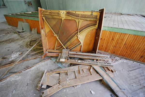 Wrecked piano