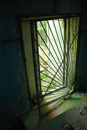 Rebar window covers...Rebar is everywhere as a protector against intruders