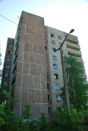 Another tower block that housed the workers
