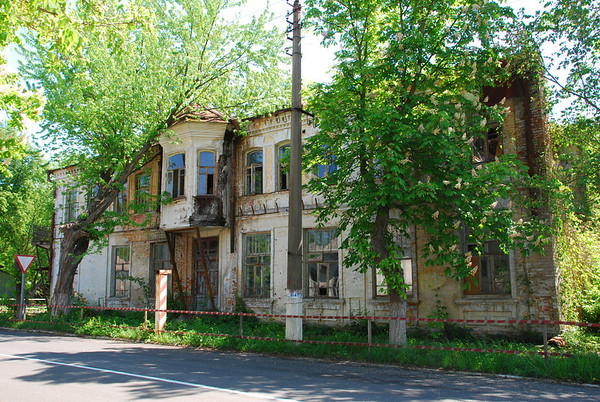 One of many derelict houses