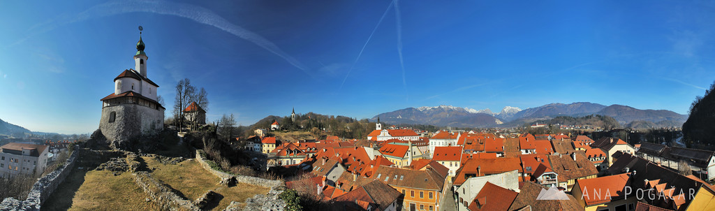 I'll start with Kamnik because it's my hometown. :) Kamnik has about 13,000 inhabitants.