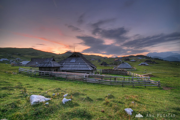 My favorite mountain close to Kamnik is called Velika planina (literally Big Pasture). It's a plateau with a shepherd settlement in the Kamnik Alps.