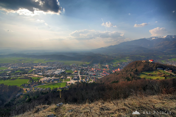 Views of Kamnik from a nearby hill.