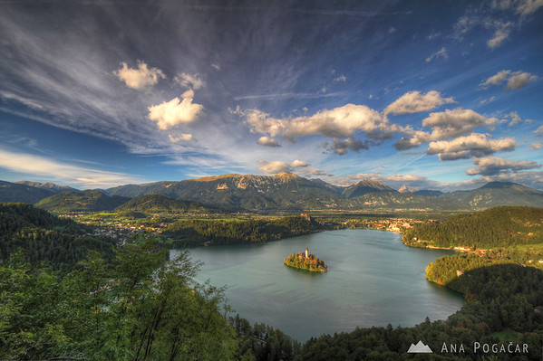 Lake Bled with its island is the most touristy place in Slovenia...