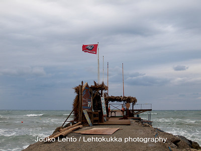 Flag and breakwaters
