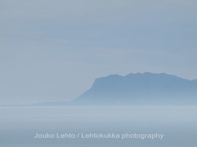 Akrotiri peninsula in morning haze
