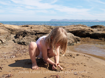 A play with sand